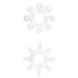 Set 2 Pcs Anelli Fallici Power Stretchy Clear