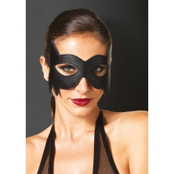 LEATHER FANTASY CAT EYE MASK OS