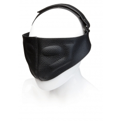 LEATHER BLINDING MASK BLACK